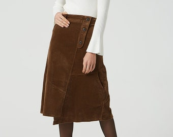 9276f015db7 Brown corduroy skirt