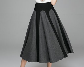 53eee258a5d29 Long wool skirt
