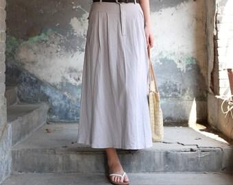 a852cc3258 Linen skirt, gray linen skirt, high waisted skirt, summer skirt, pockets  skirt, pleated skirt, party skirt for women, gift ideas 2173