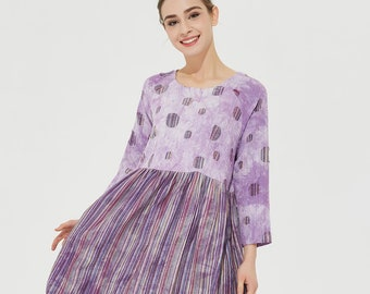 8d410aedf754 Purple striped dress