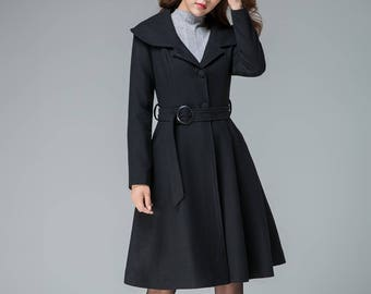 6136963a6a2 black winter coat