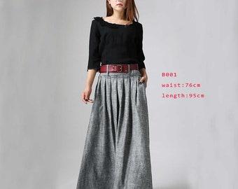 f6bad76c1a2e maxi linen skirt