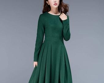 Wool Dress Etsy