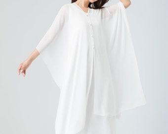 0594f751e8c46 sheer white chiffon capelet, wedding cape, bridal cape, long dress prom,  cover up cape, womens chiffon cape, long chiffon cape 1917