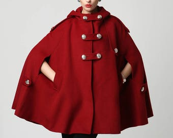 3ffcd525a8713 Red wool cape