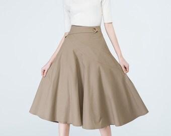 4eee60cbdaa0 camel skirt women, knee length skirt, fitted skirt, swing skirt, summer  skirt, elegant skirt, ladies skirt, skirt with pockets, gift 1692