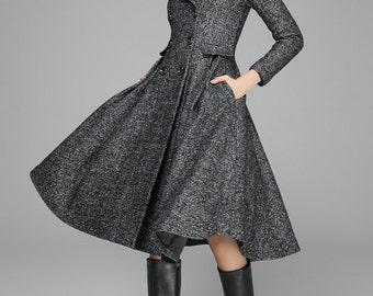 ef75e14253a43 Black wool coat