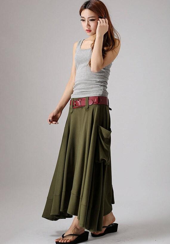 skirt linen skirt Army skirt pockets skirt skirt skirts green womens with lagenlook maxi clothing 885 summer skirt fitted qatSwSEF