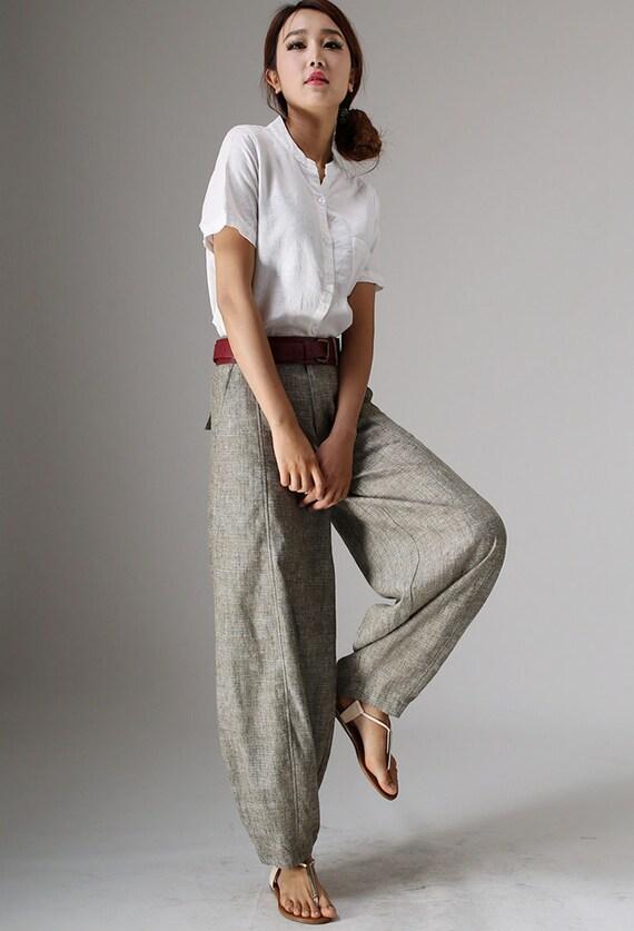 Loose Fitting linen casual Womens pants Pants long linen baggy Linen Summer Pants 986 pants pants pants Linen Lightweight Pants Pants OqPw8qv
