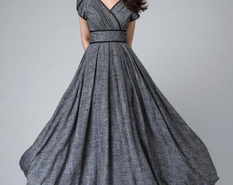 maxi dress, empire waist dress, bridesmaid dress, party dress, romantic dress, floor length dress, custom made dress, prom dress 1492