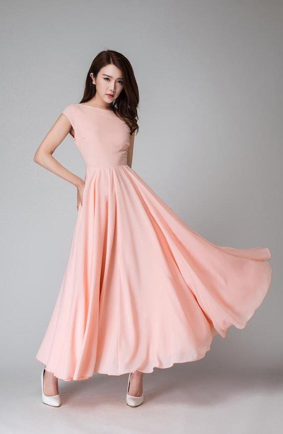 Langes kleid alt rosa