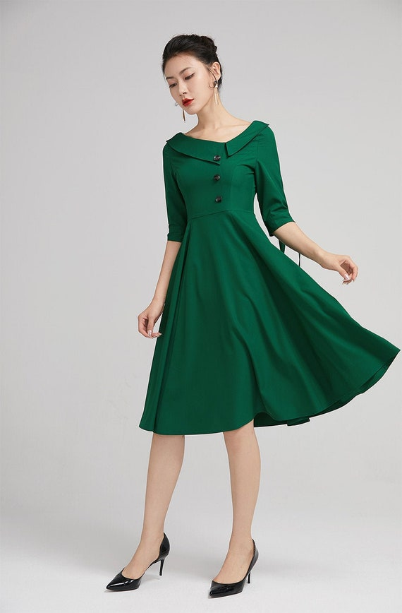 Fit Dress For Women : Black wool dress women, black boho maxi dress, long smock dress, oversize ruffled dress long sleeves, loose warm dress, fall winter dress.