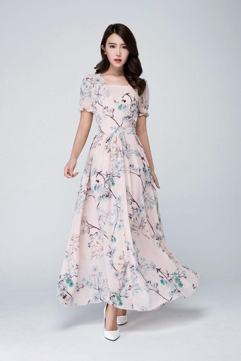 roze chiffon jurk