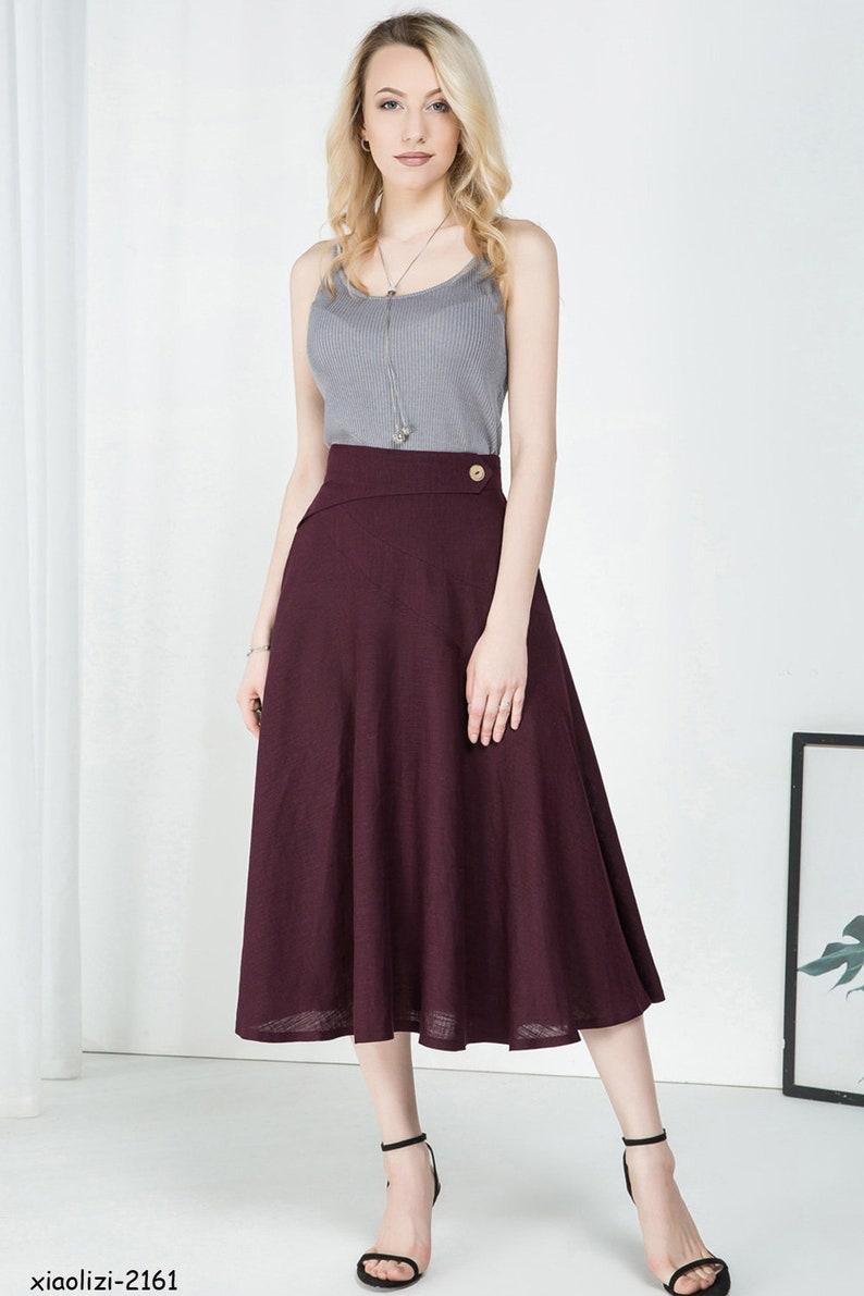 long skirt,linen clothing,circle skirt,summer skirt elegant skirt pleated skirt,flare skirt,skirt for women xiaolizi handmade skirt 2161#