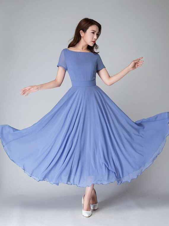 Long Chiffon Dresses for Women