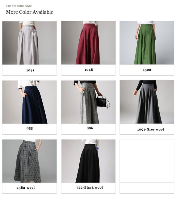 maxi modern skirt skirt 855 skirt navy skirt skirt skirt linen pockets long ladies pleated skirt blue linen with linen clothing v17xqg