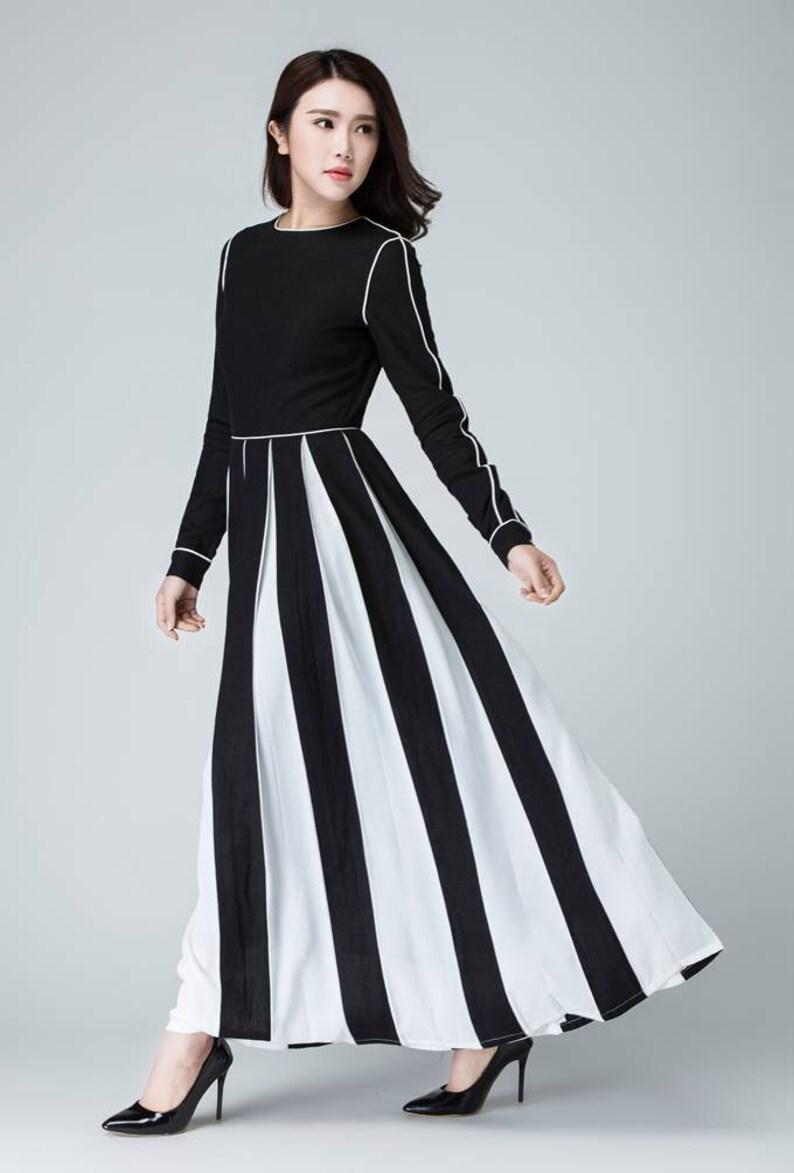 1432b0854bc Robe en lin robe en lin noir robe longue en lin robe à