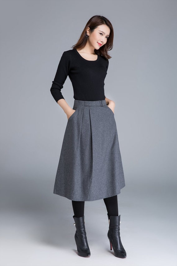 Fitted Midi Skirt Outfits