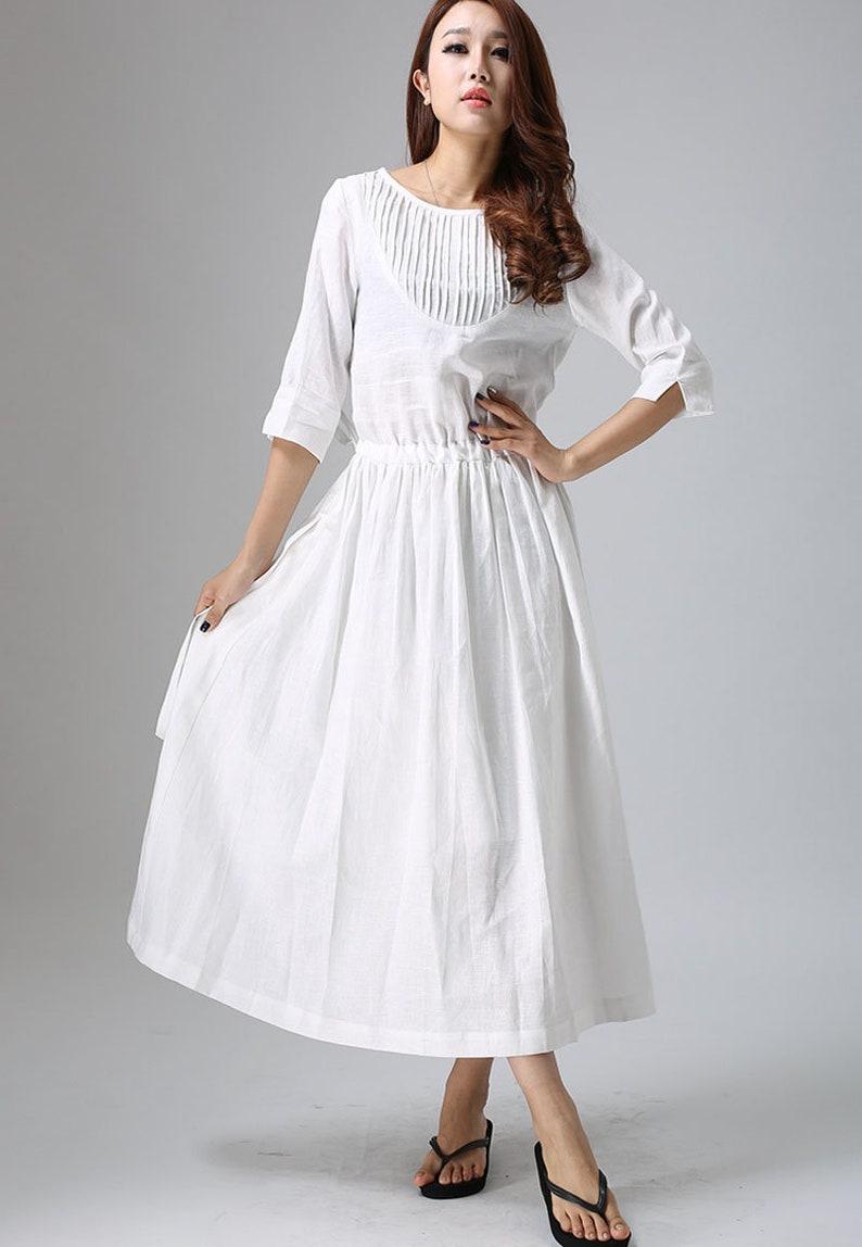 21a3cb03e2e9 White linen dress linen dress maxi dress white party dress