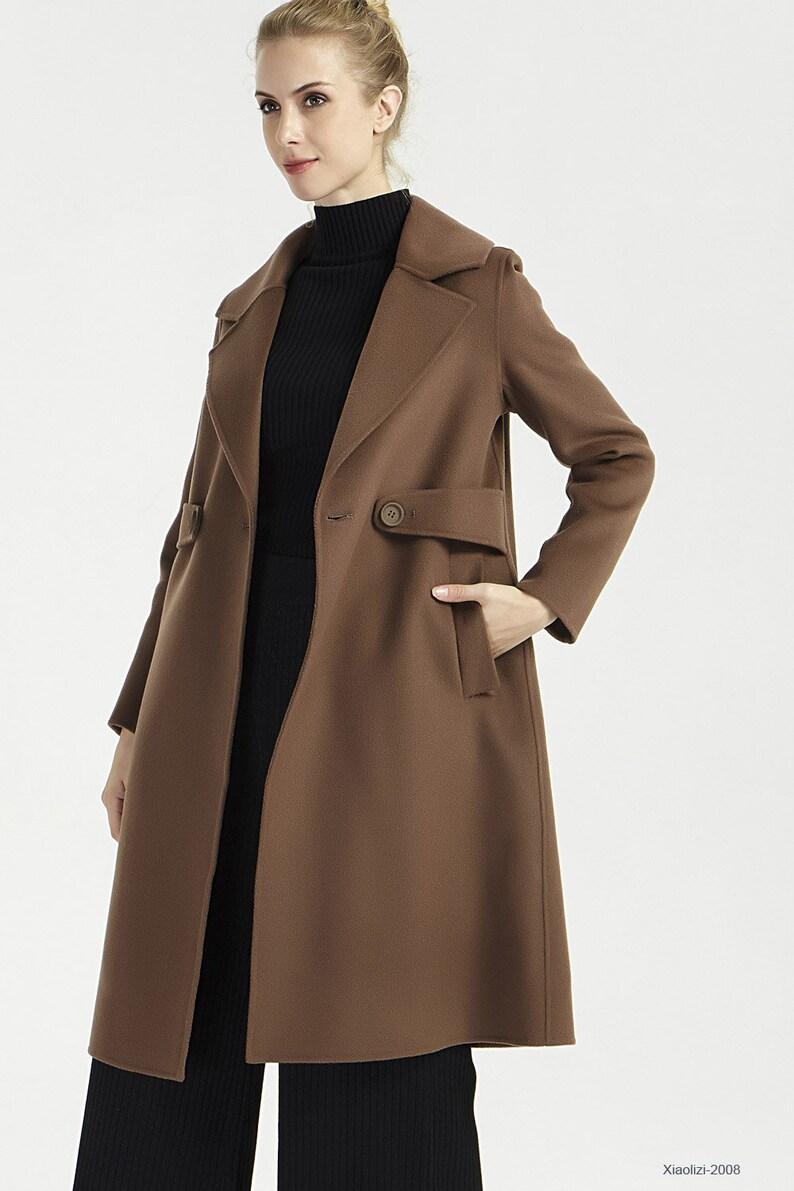 2c74e3d6bf15 Womens wool coat long winter coat overcoat warm outerwear