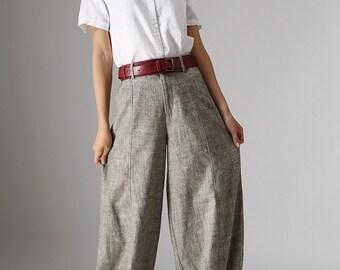 Linen Pants, long linen pants, Womens Linen Pants, Summer linen pants, Loose Fitting Pants, casual pants, baggy pants, Lightweight Pants 986