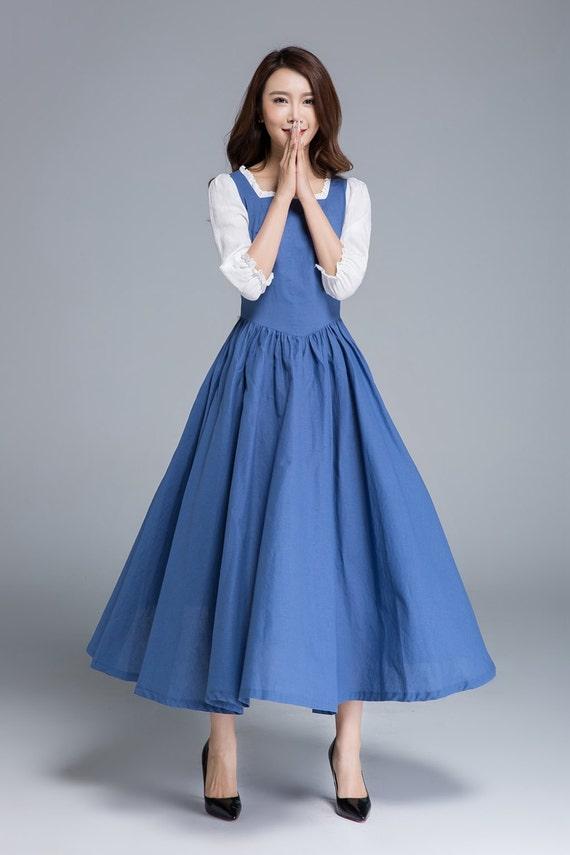 Belle Kleid Kleid Kleid Rüschen Party-Kleid langes Kleid   Etsy