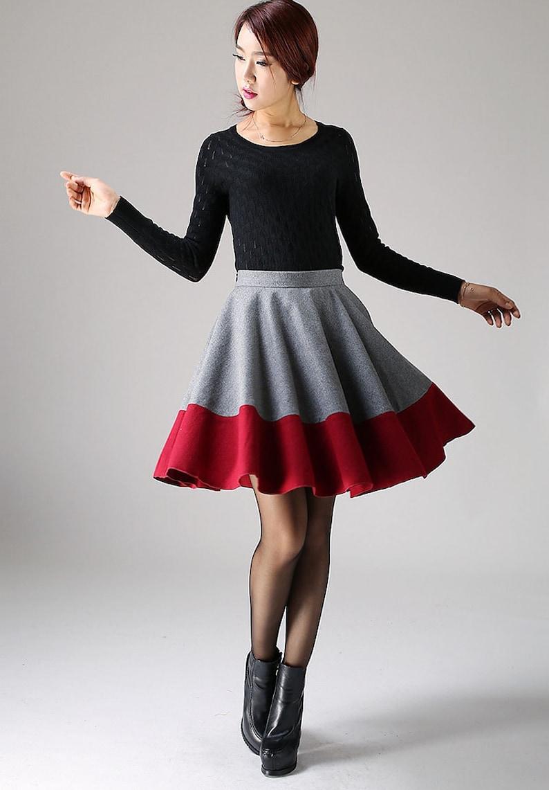 5732473642 Mini skirt cute skirt pleated skirt wool skirt skater   Etsy