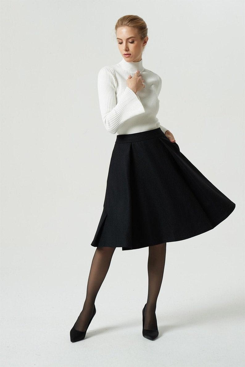 f0ebdb030 Black skirt wool skirt knee length skirt short skirt | Etsy