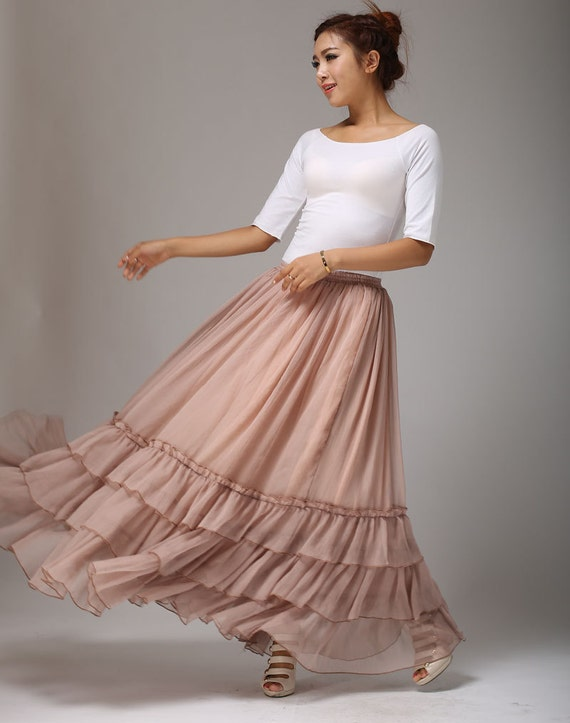 skirt blush party skirt 663 skirt pink skirt skirt maxi tiered long custom princess bohemian skirt chiffon skirt made skirt ztxvpgw4