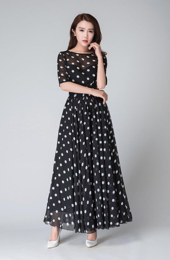 White Polka Dot Dress