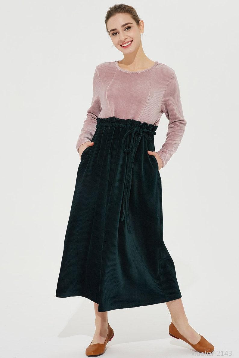 b77d988fd5 Corduroy dress maxi dress spring dress long sleeves dress | Etsy