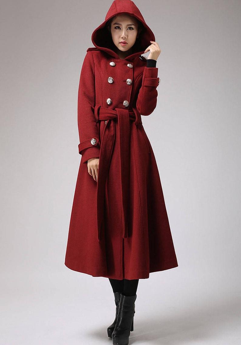 0c03af50ae3 Winter coat trench coat red coat military coat long coat   Etsy