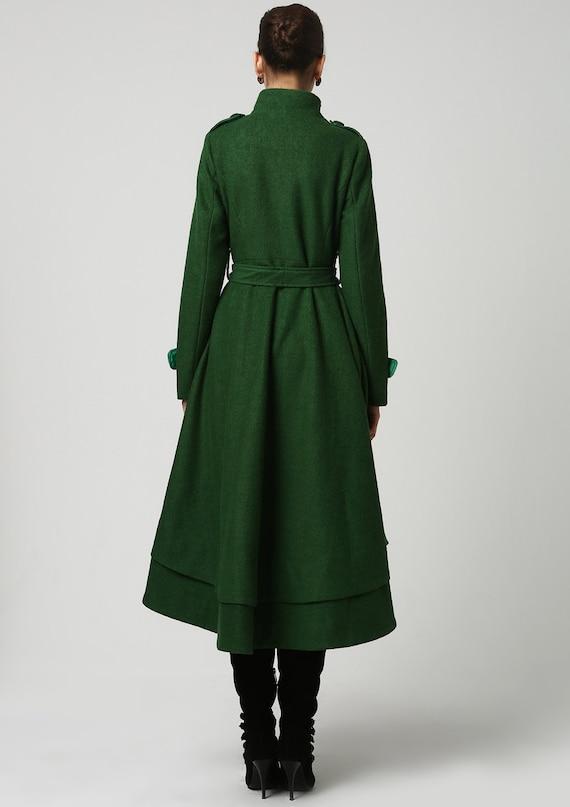 coat order coat to wool women winter coat wool warm wool long coat coat coat green green 1112 wool made winter coat long coat TETIUwq