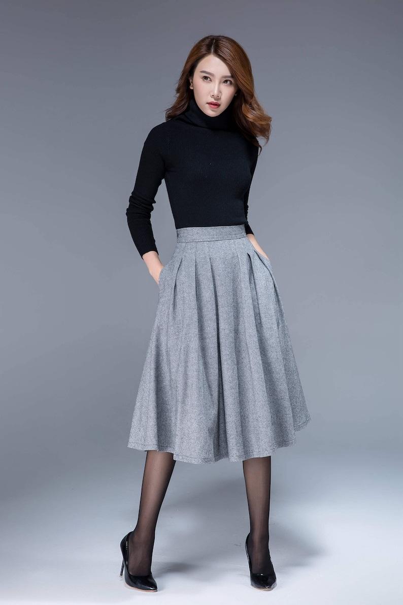 7e7a38c44f Wool skirt midi skirt winter skirt knee length skirt | Etsy
