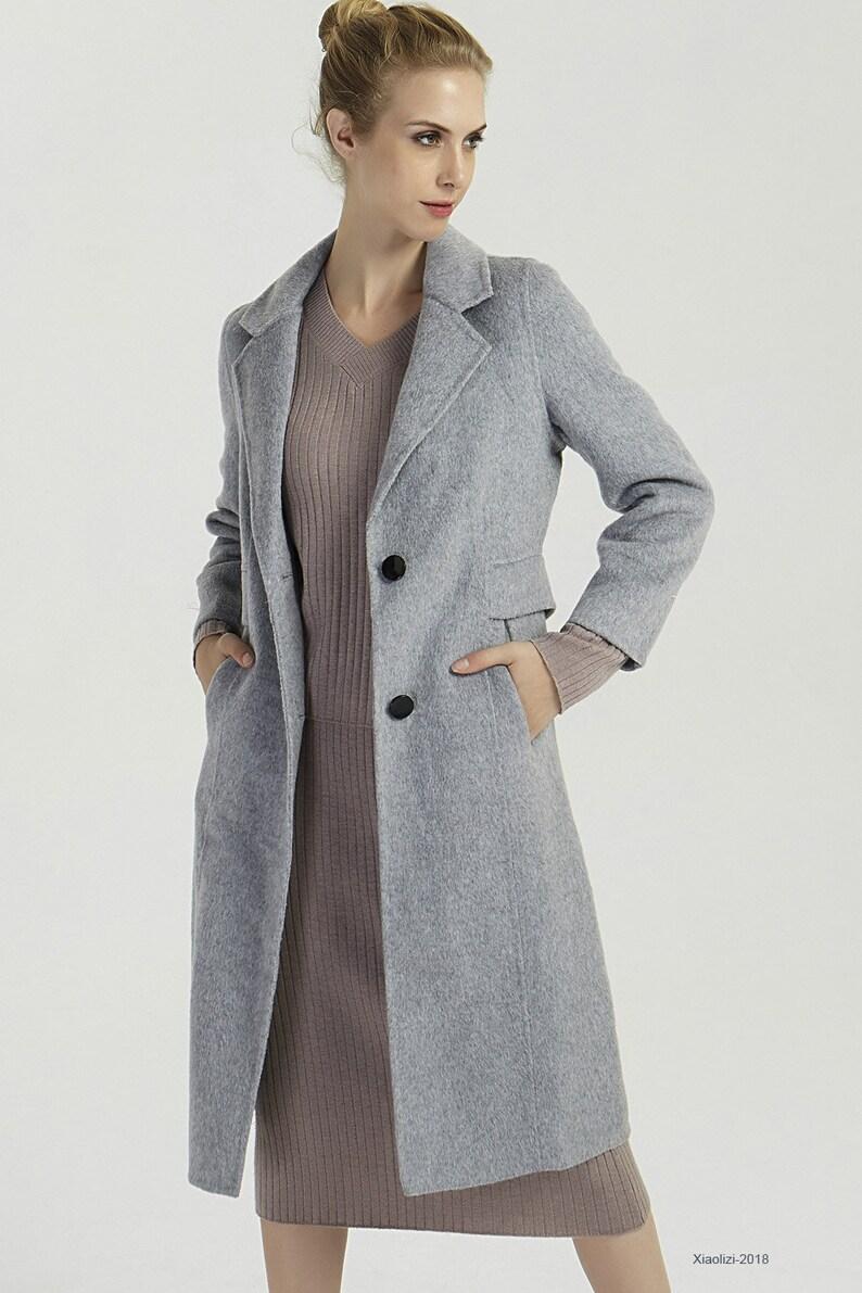 855791f28d Gray wool coat womens winter coats warm winter jacket long   Etsy