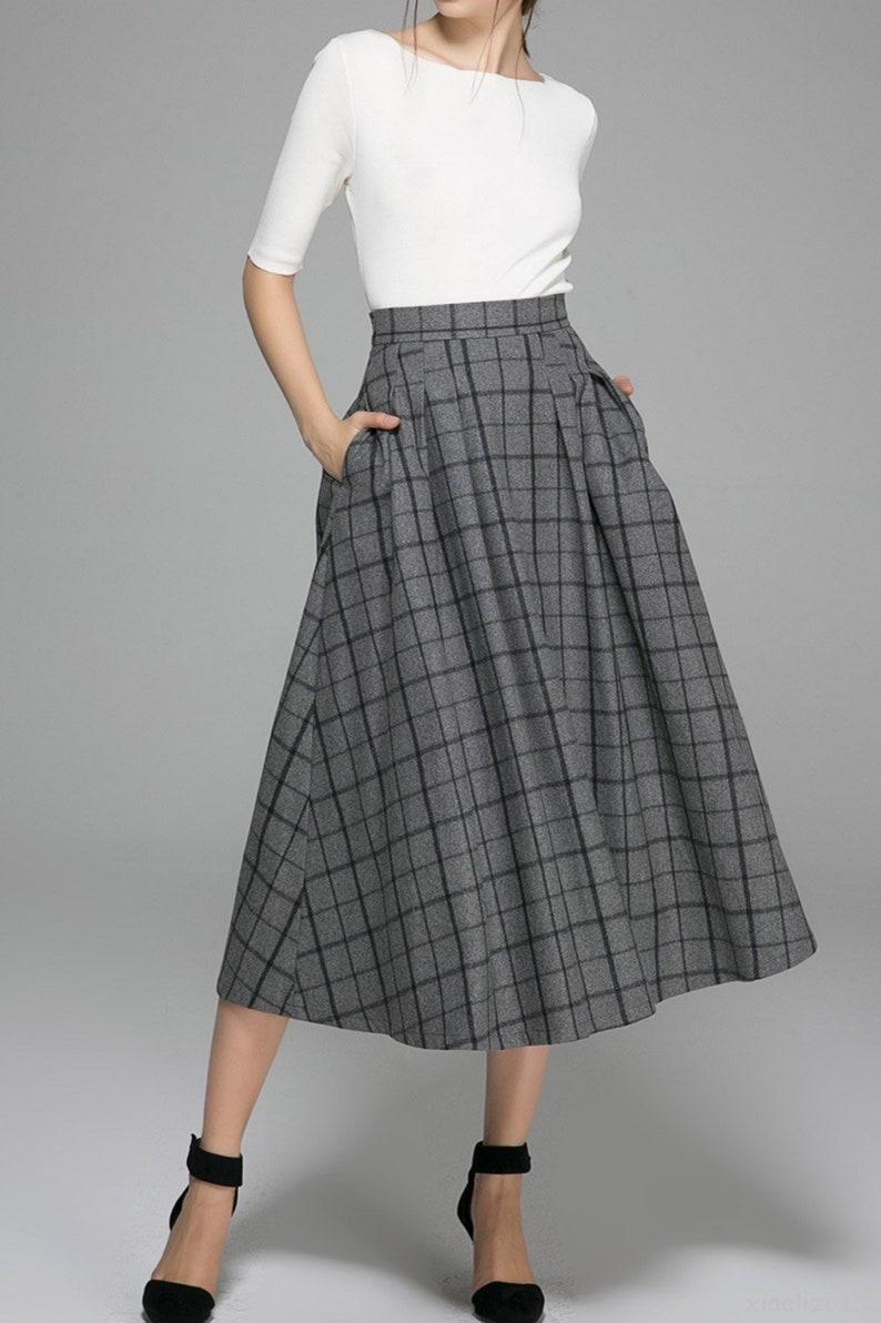 4e6290a52 Long Gray Wool Skirt   Huston Fislar Photography