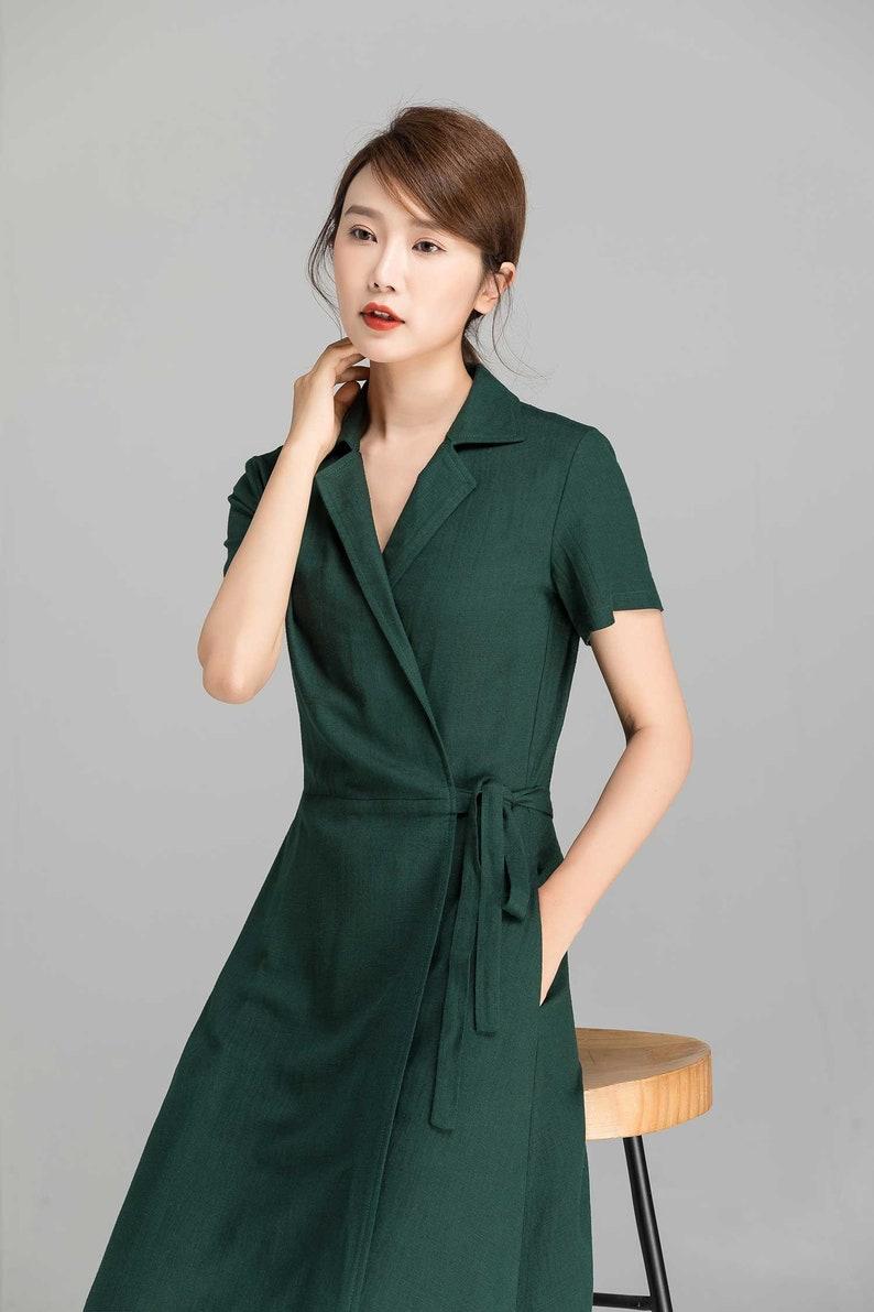 A Line party dress Sleeveless Prom dress Maxi dress House dress 2361# Green dress Casual dress Linen dress Women dress Summer dress