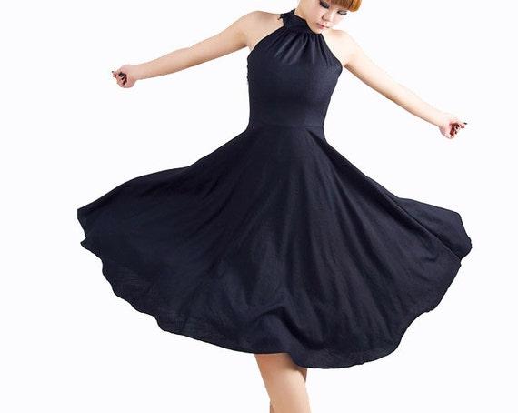 Items Similar To Black Halter Prom Dress