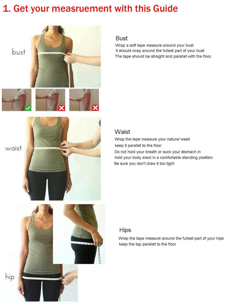 SIZE GUIDE  How to get your body measurement SG02 image 0