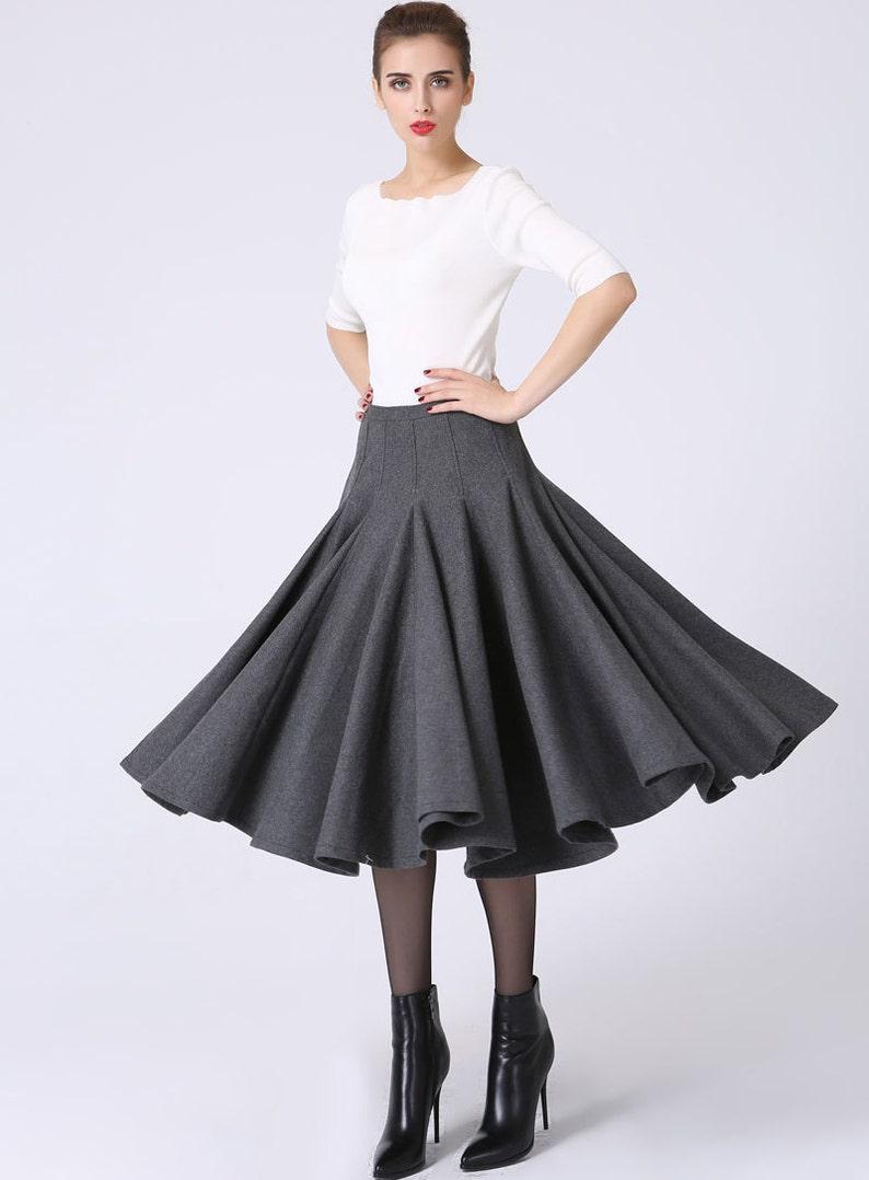 d3a3fec03 Wool skirt full skirt ruffle skirt pleated skirt knee | Etsy