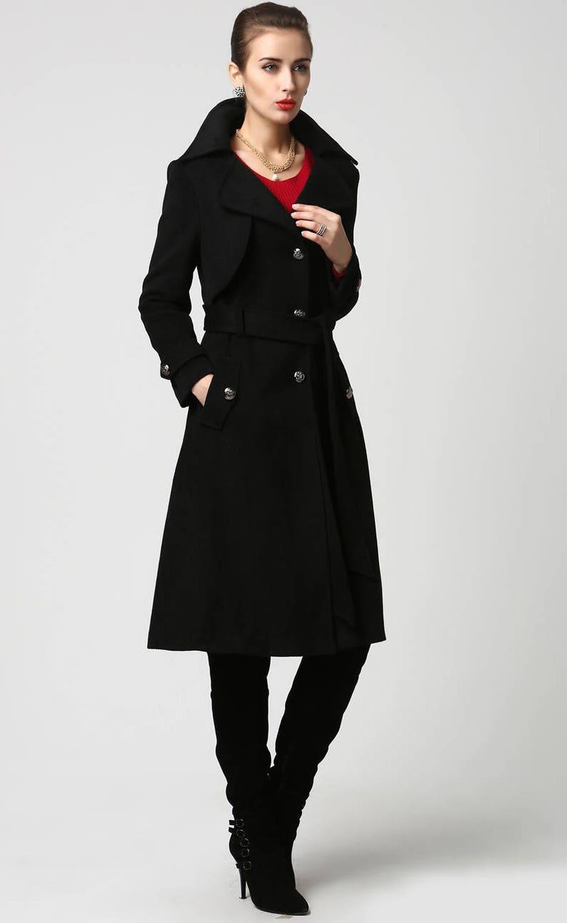 f983eb64d87a Black wool coat military coat wool coat winter coat Womens