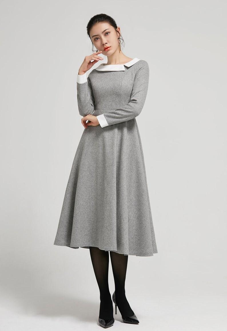 Winter Wolle Kleid Vintage lange Frauen Kleider warme   Etsy