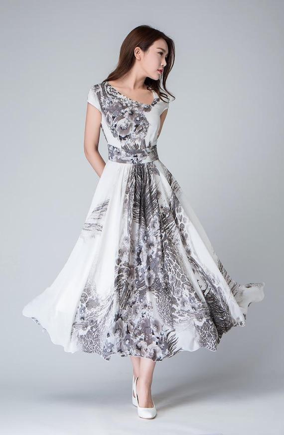 Drucken Cocktail-Kleid Kleid Maxi-Kleid chiffon-Kleid   Etsy 54e0193afd