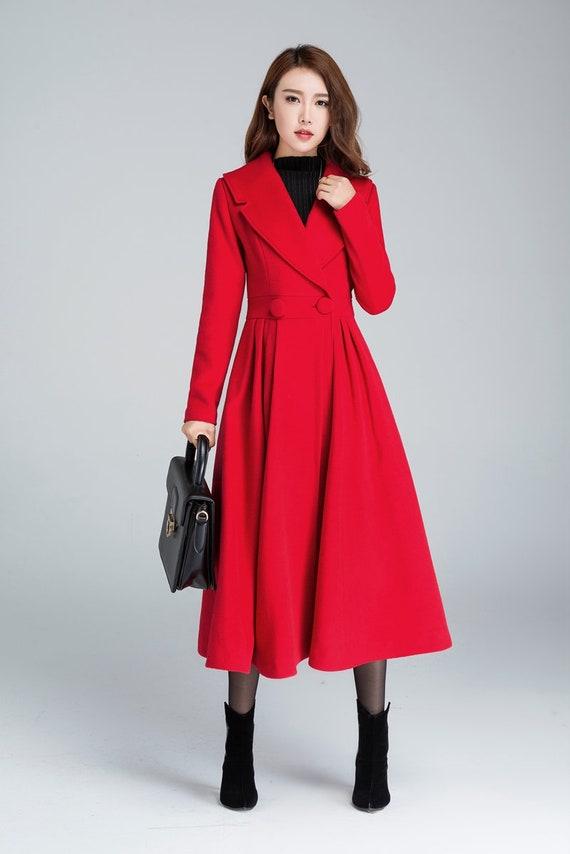 Rouge Princesse Veste De Longue Manteau Etsy F6xR5Iqw