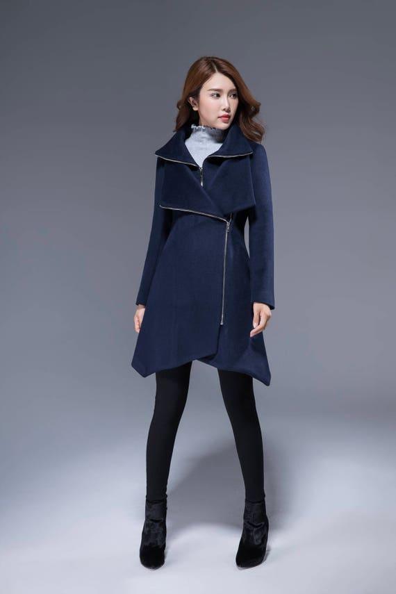 1363 Asymmetrical designer Black coat coat coat womens wool winter Black jacket Coat jacket modern clothing ladies coat jackets 4PrT4