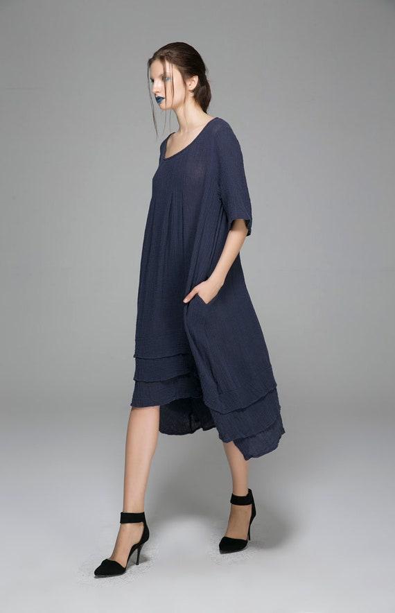 loose long oversized dress linen prom dress dress dress womens dress house dresses blue 1400 dress dress dress summer sundress rSraqx