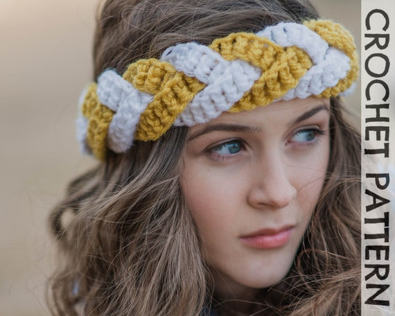 CROCHET PATTERN Outfitters Braided Headband  f32a4c70381