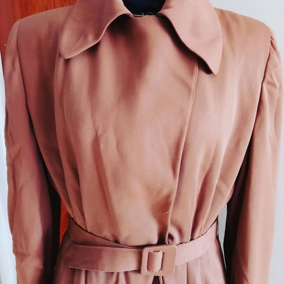 Vintage 40s Gabardine Coat   Amazing Late 40s Gab