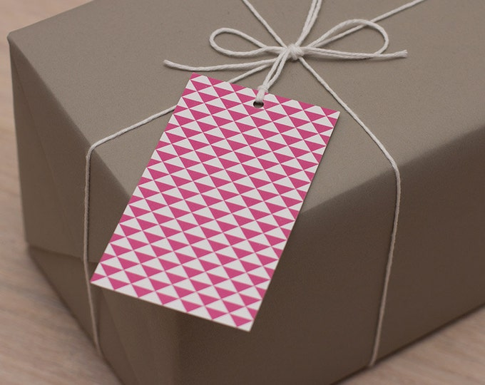 triangular gift tags