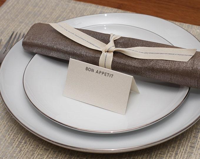 bon appetit place cards - shimmer